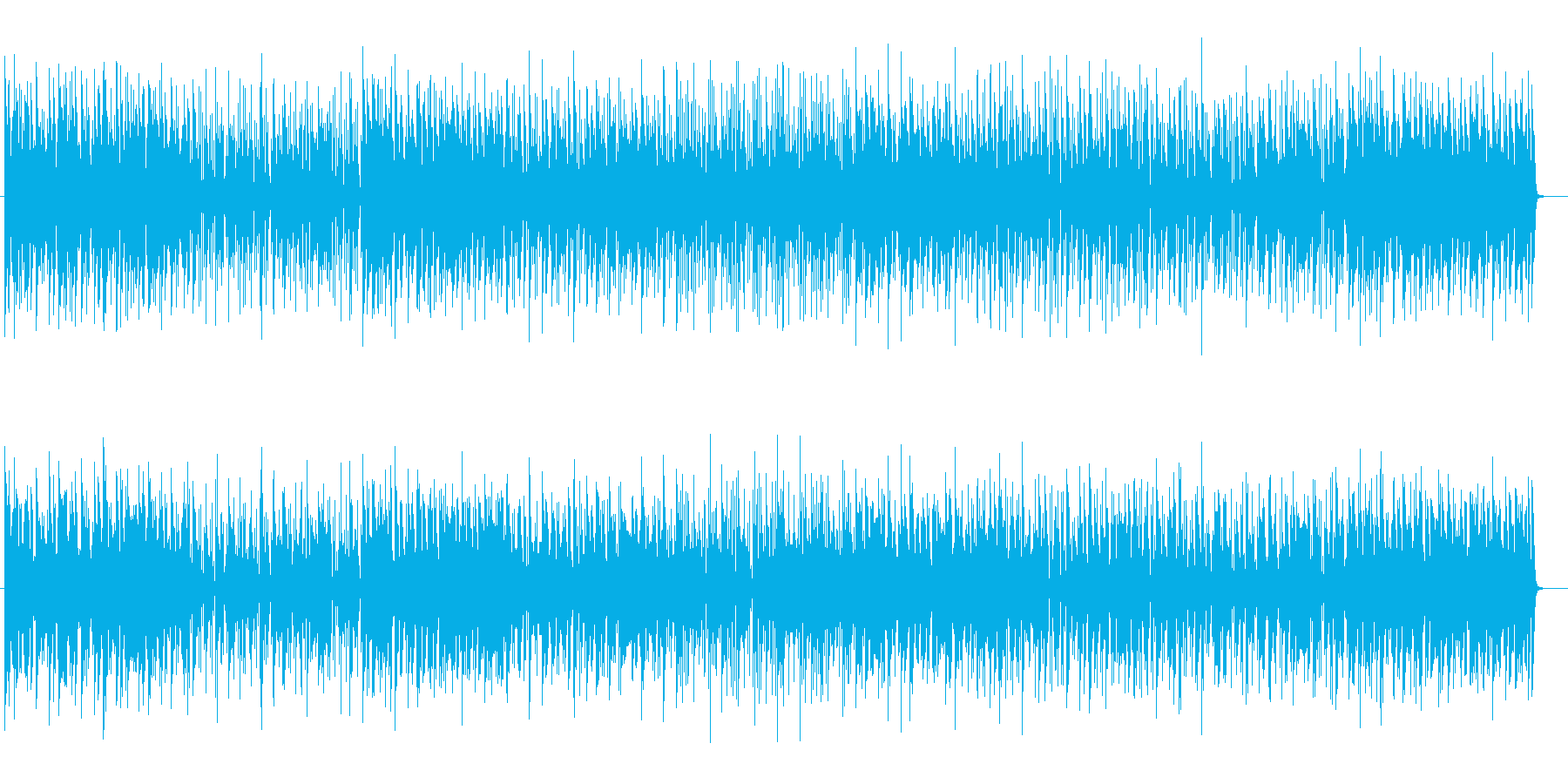 緩やかでまったりとしたシンセポップスの再生済みの波形