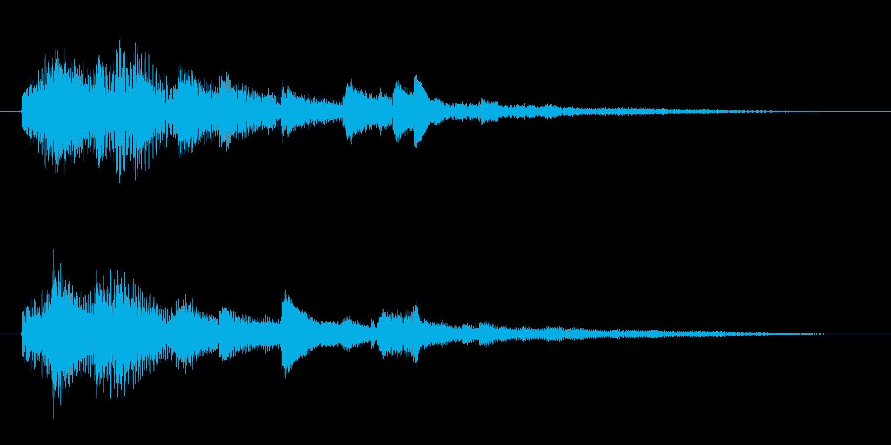 浮遊感のあるジングル。ピアノとアコギ。の再生済みの波形