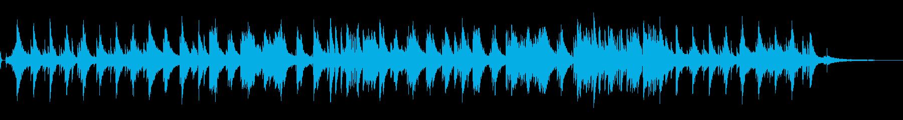 ジャジーでスローなピアノによるBGMですの再生済みの波形