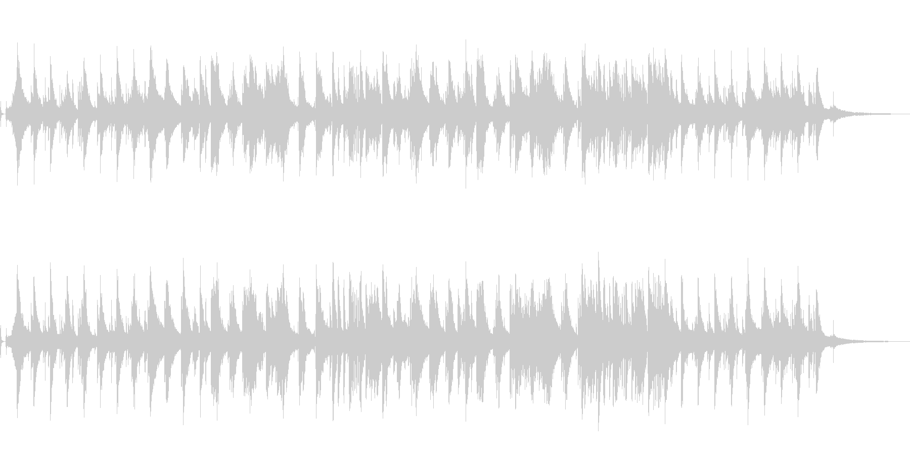 ジャジーでスローなピアノによるBGMですの未再生の波形