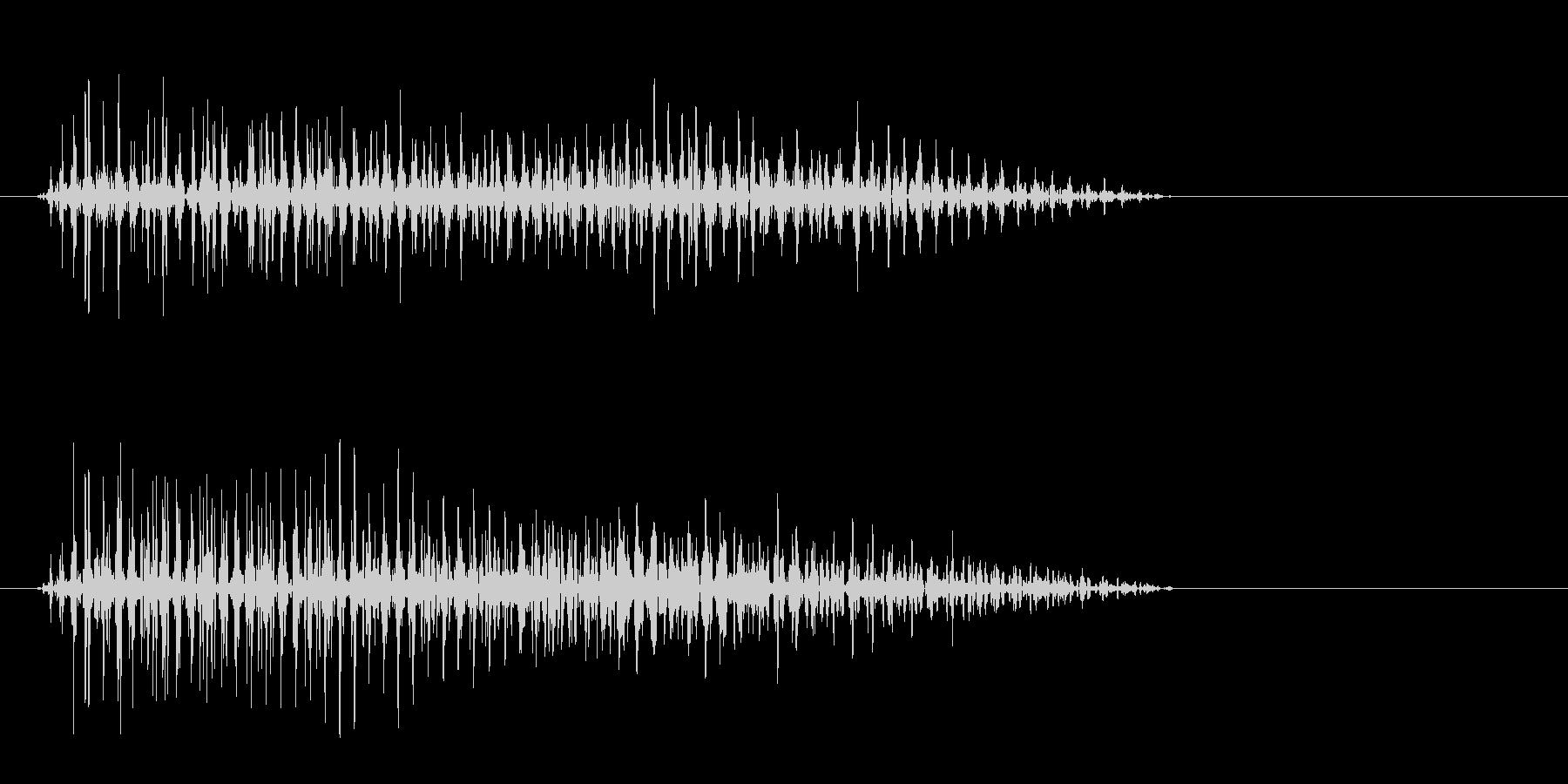 ピューンという下がり気味の音の未再生の波形