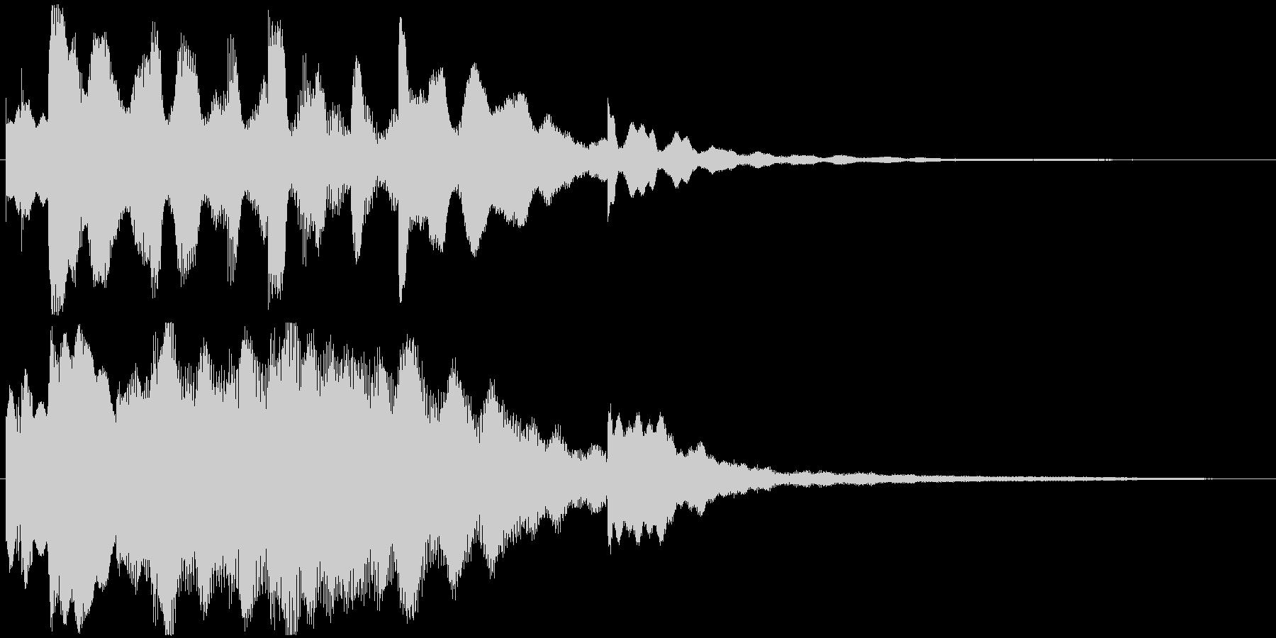エレピのジングル、おしゃれ系の未再生の波形