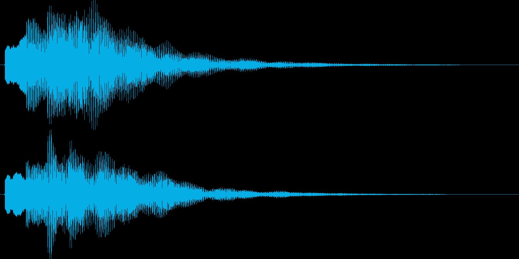 ポロリローン(高音デジタルチャイム)の再生済みの波形