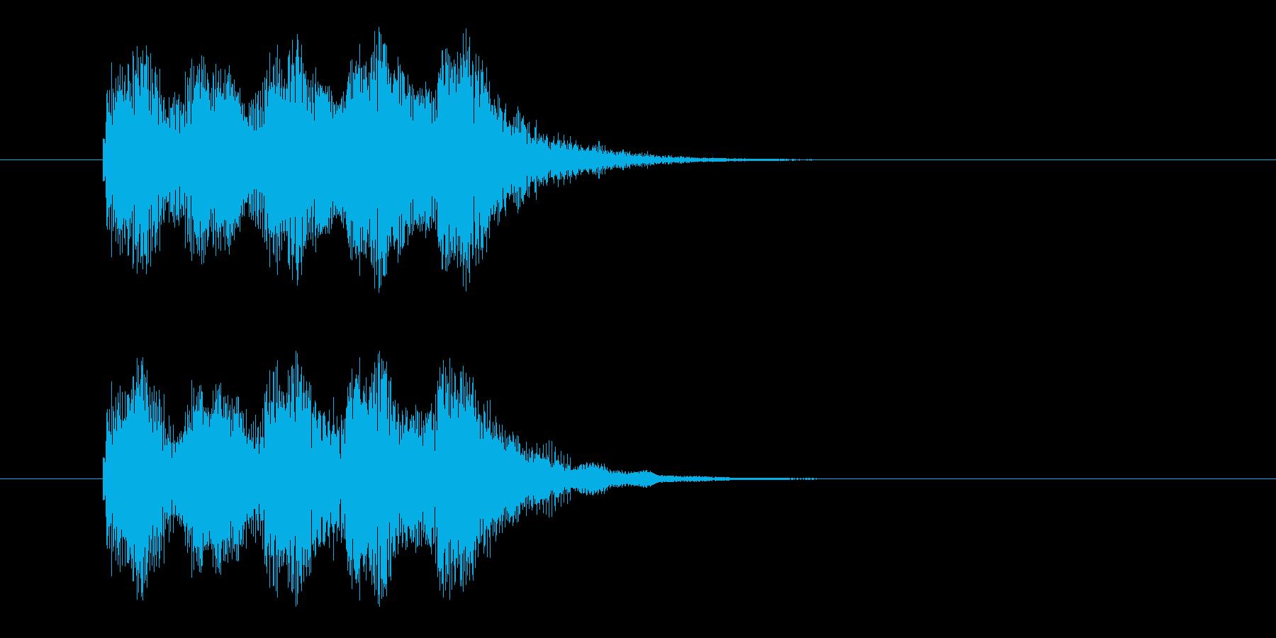 電子マネー音の再生済みの波形