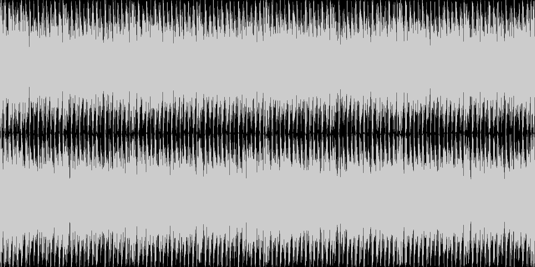 スタイリッシュで不穏な曲 ループ処理2の未再生の波形