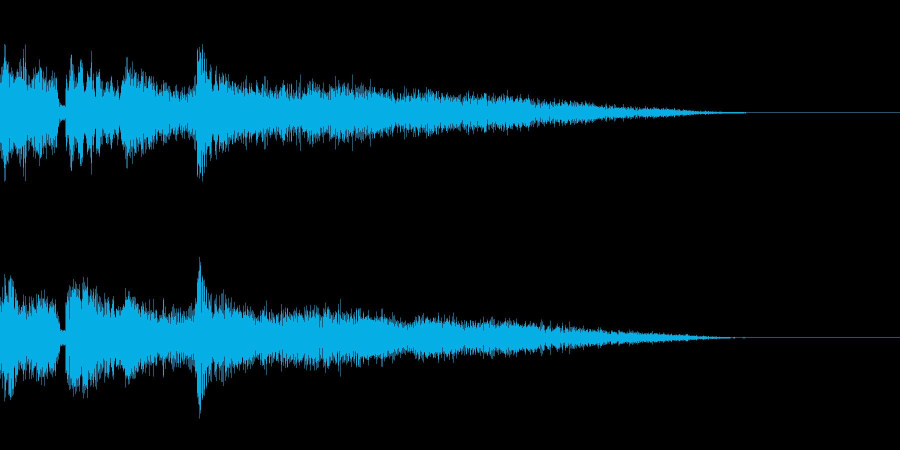 ピキッという氷系の魔法効果音です。の再生済みの波形