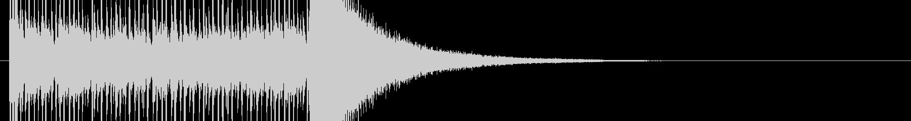 正解発表前のドラムロールの未再生の波形