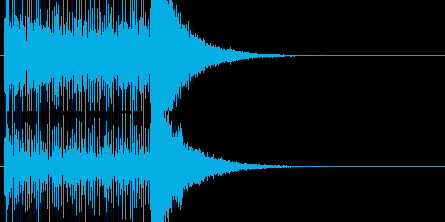 正解発表前のドラムロールの再生済みの波形