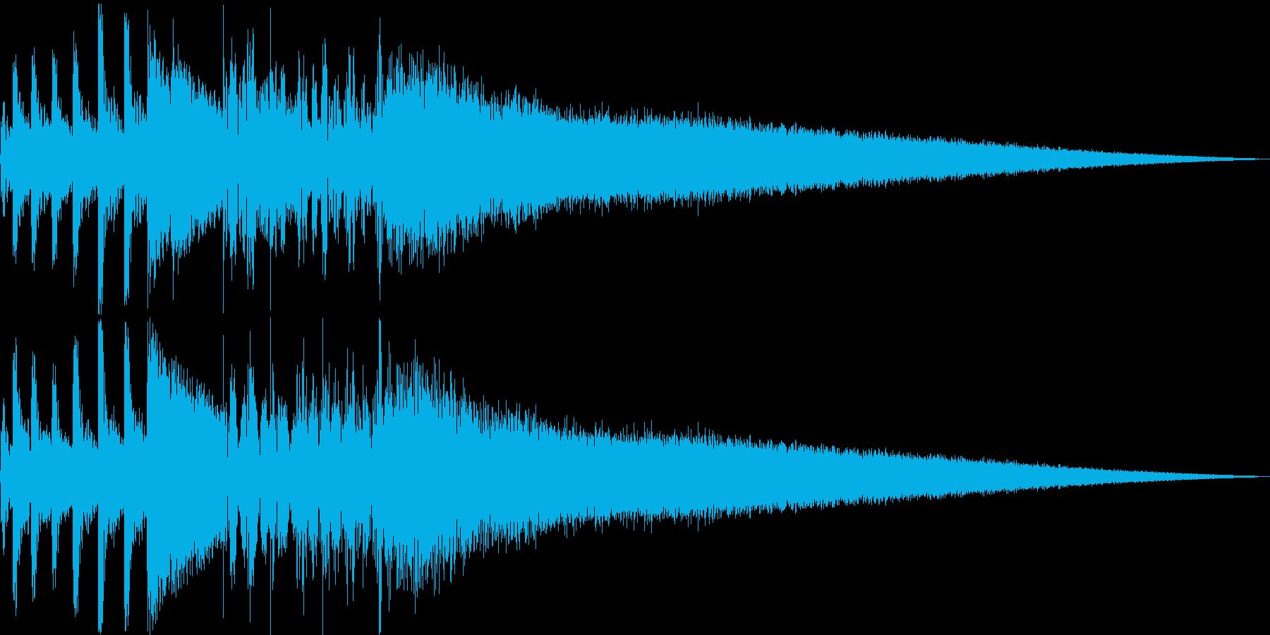 ゲームの対戦演出(ギターあり)の再生済みの波形