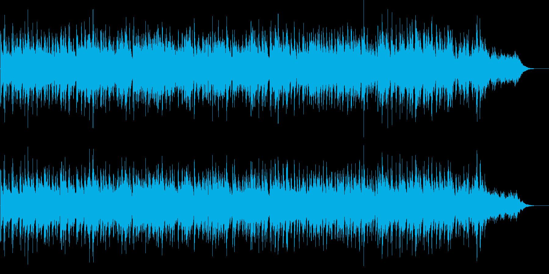 ガットギターと4つ打ちで夕暮れのラテン調の再生済みの波形