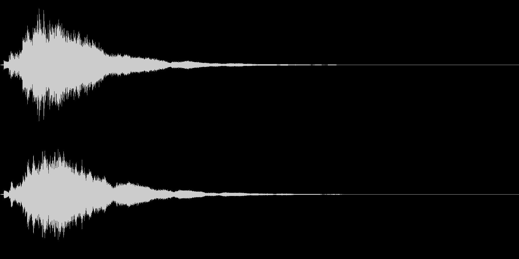 ゲームスタート、決定、ボタン音-095の未再生の波形
