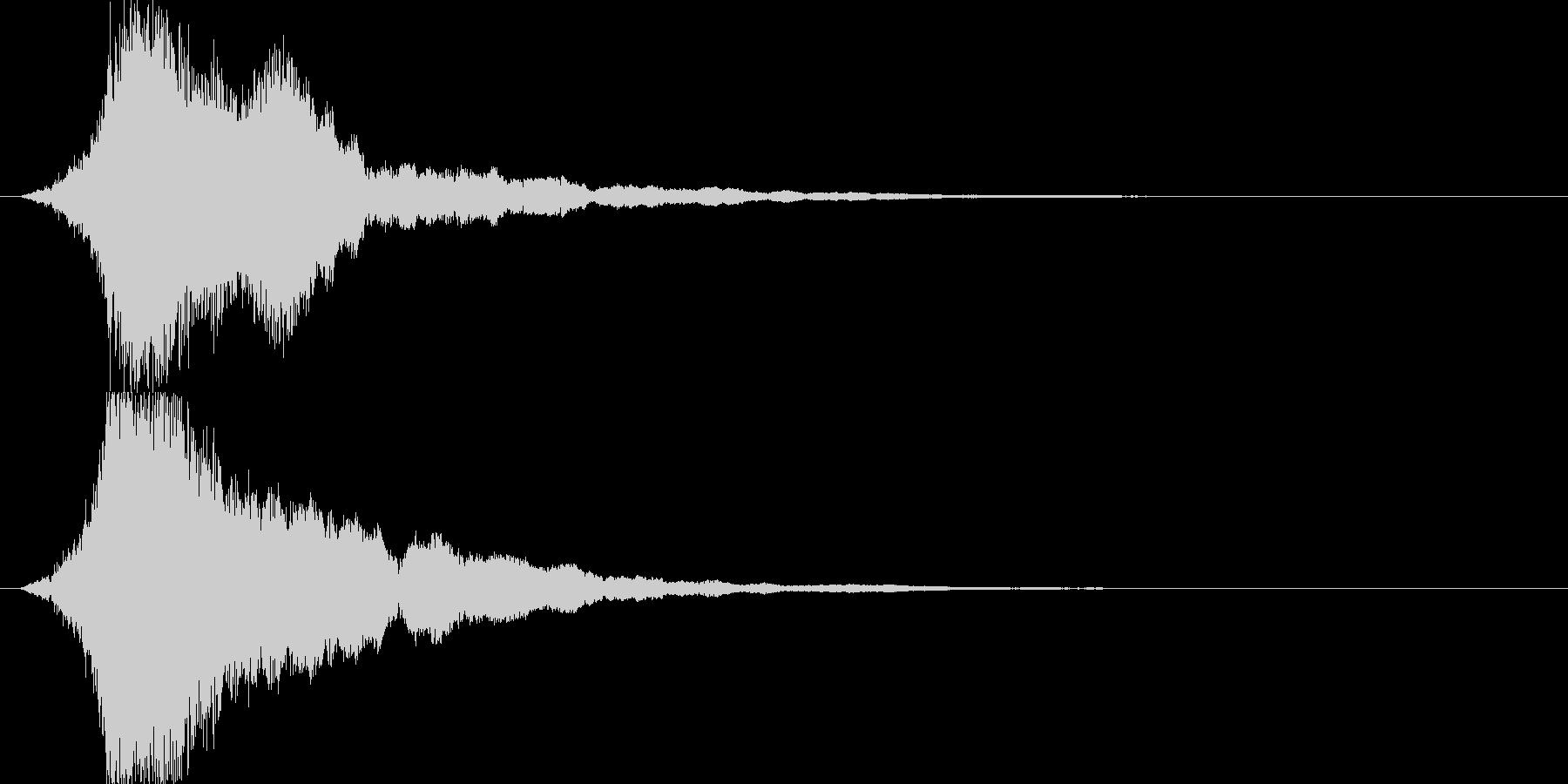 シャキーン 派手なインパクト音6の未再生の波形