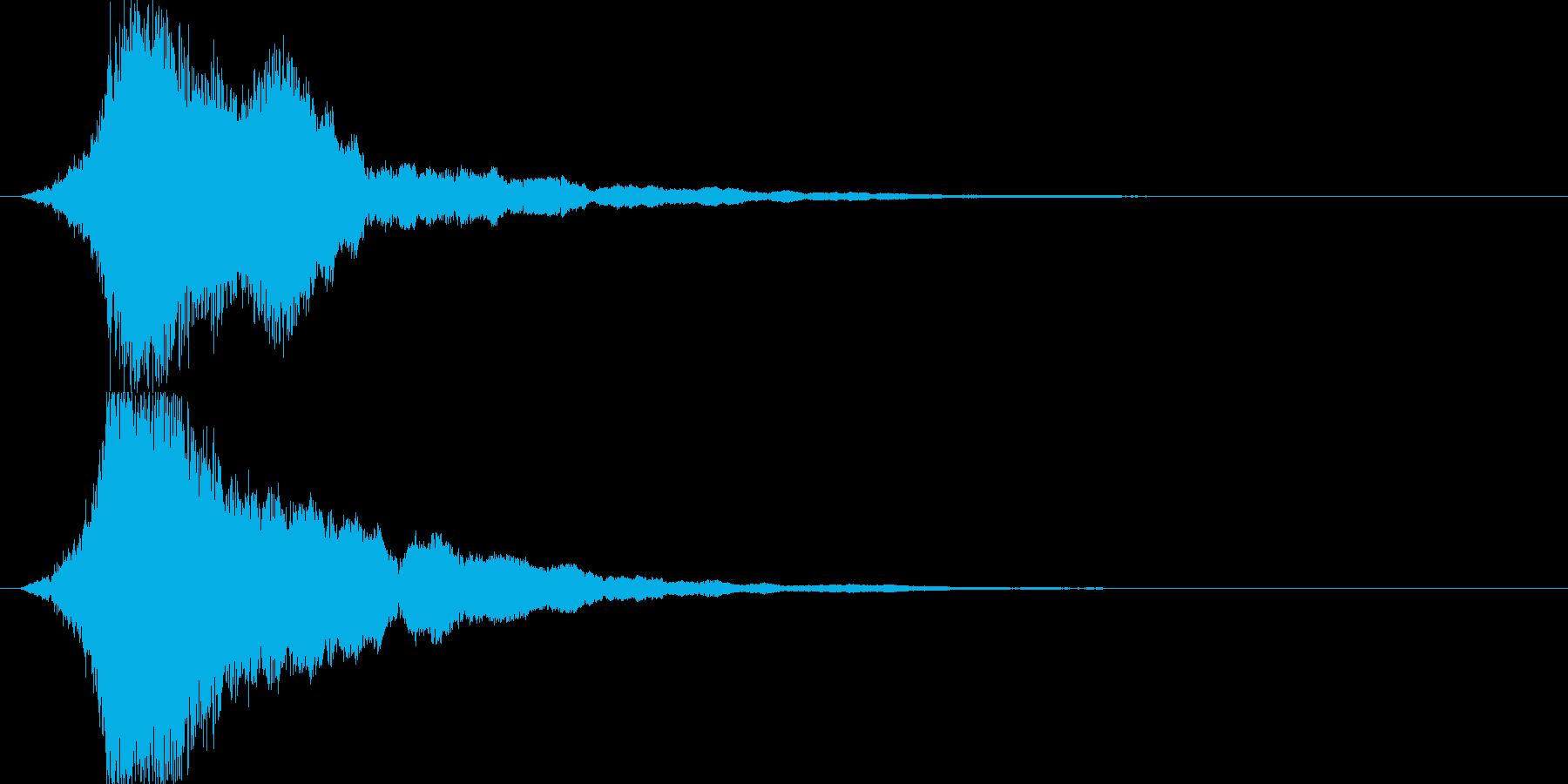 シャキーン 派手なインパクト音6の再生済みの波形