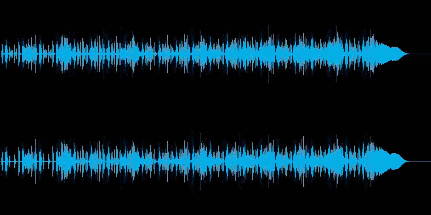 デジタルなポップ・ロックの再生済みの波形