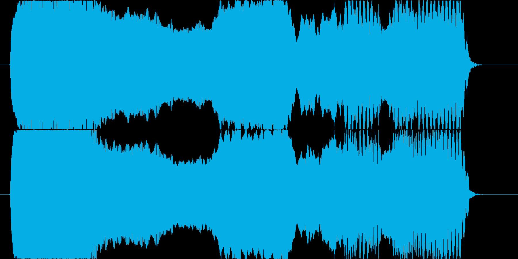 エレキギターのフィードバック音コードCの再生済みの波形