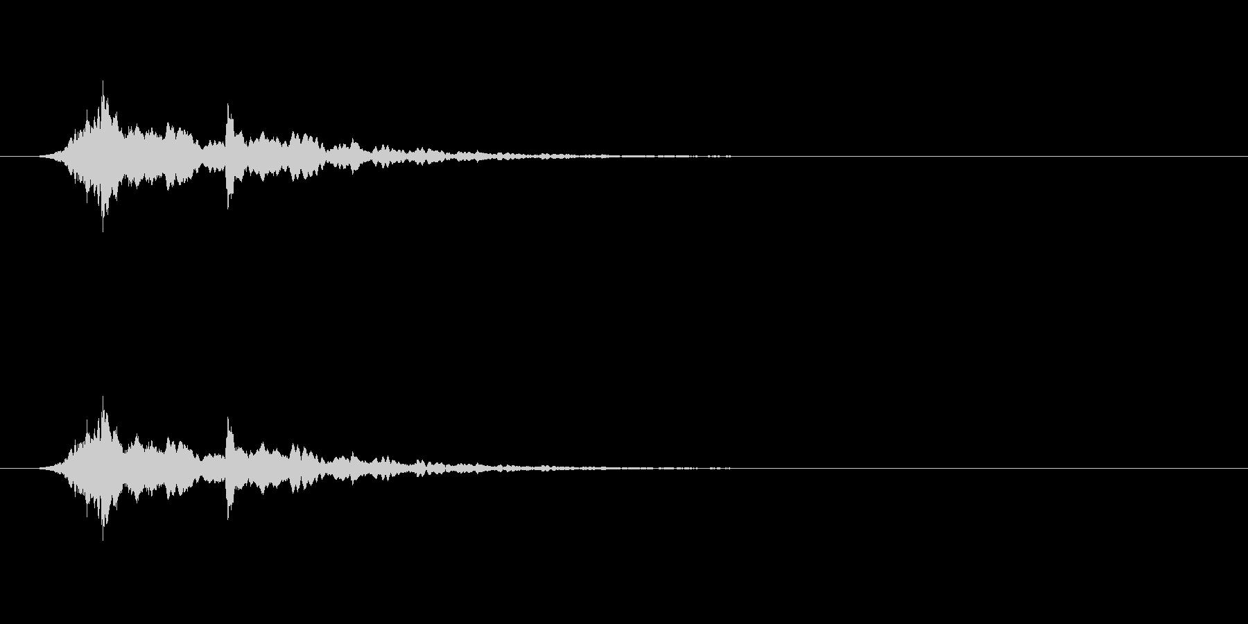 【アクセント12-4】の未再生の波形