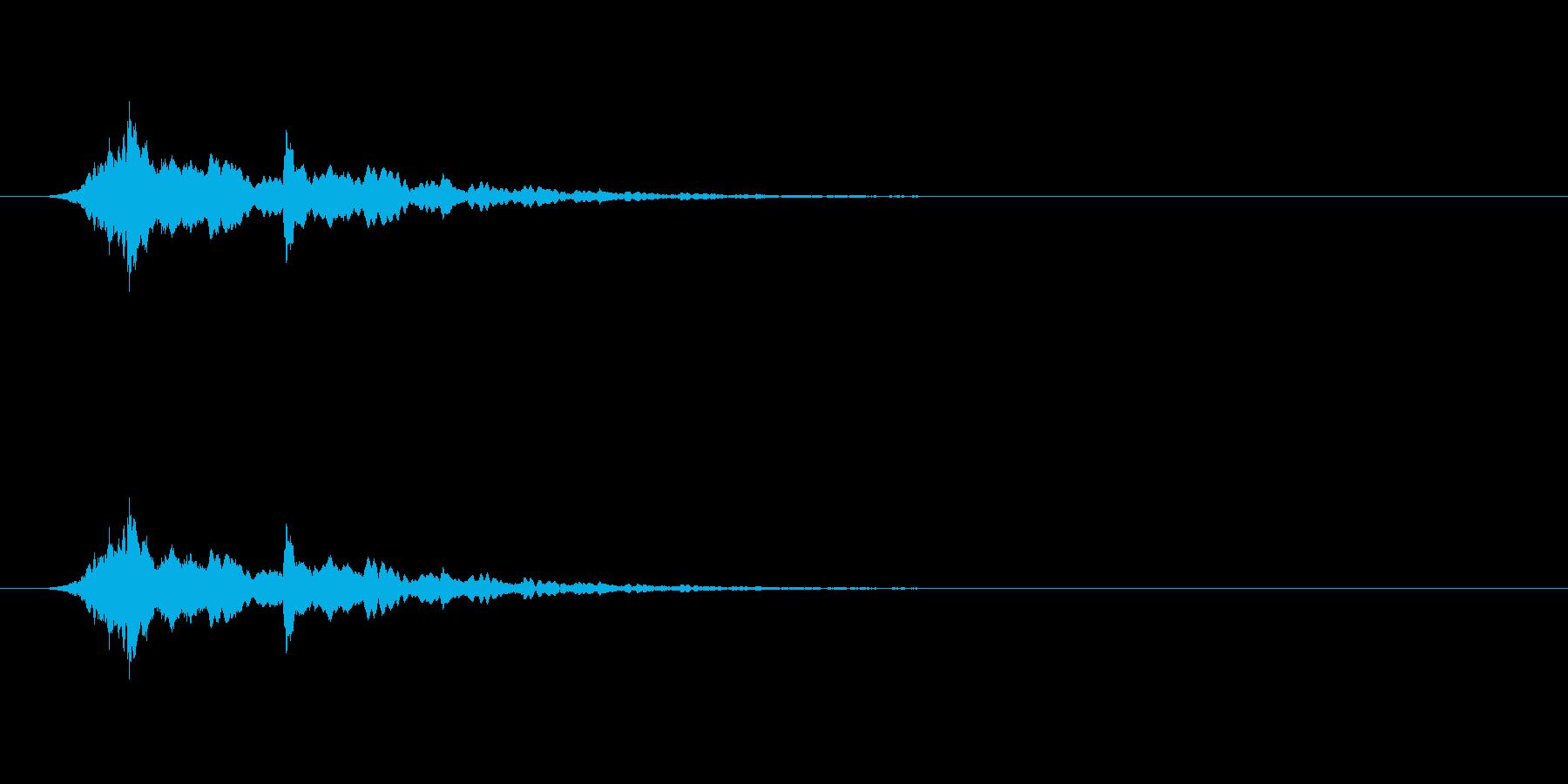 【アクセント12-4】の再生済みの波形
