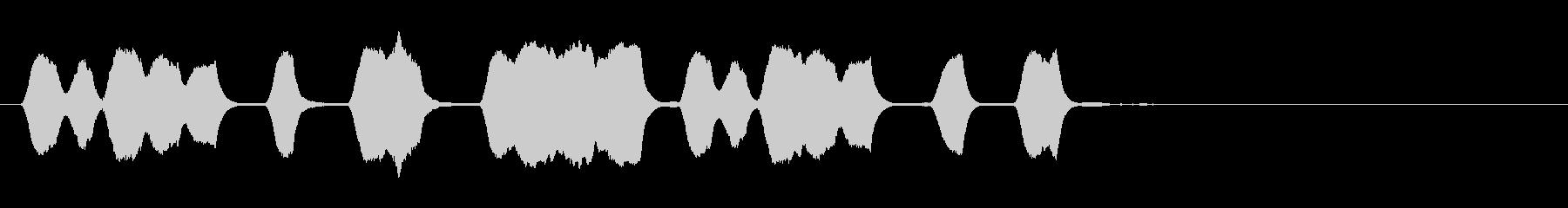 ジングル 口笛 軽快 愉快の未再生の波形