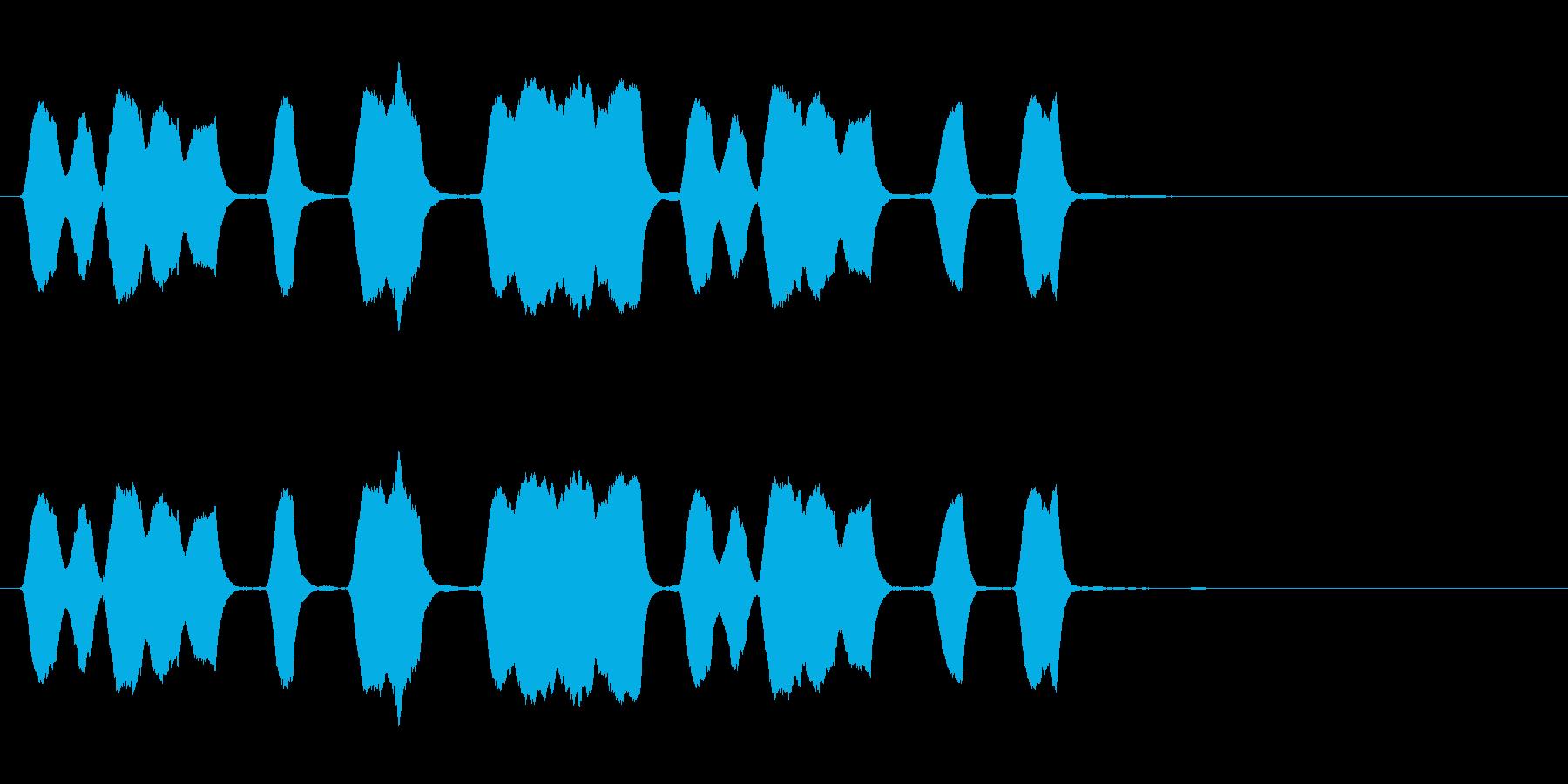 ジングル 口笛 軽快 愉快の再生済みの波形