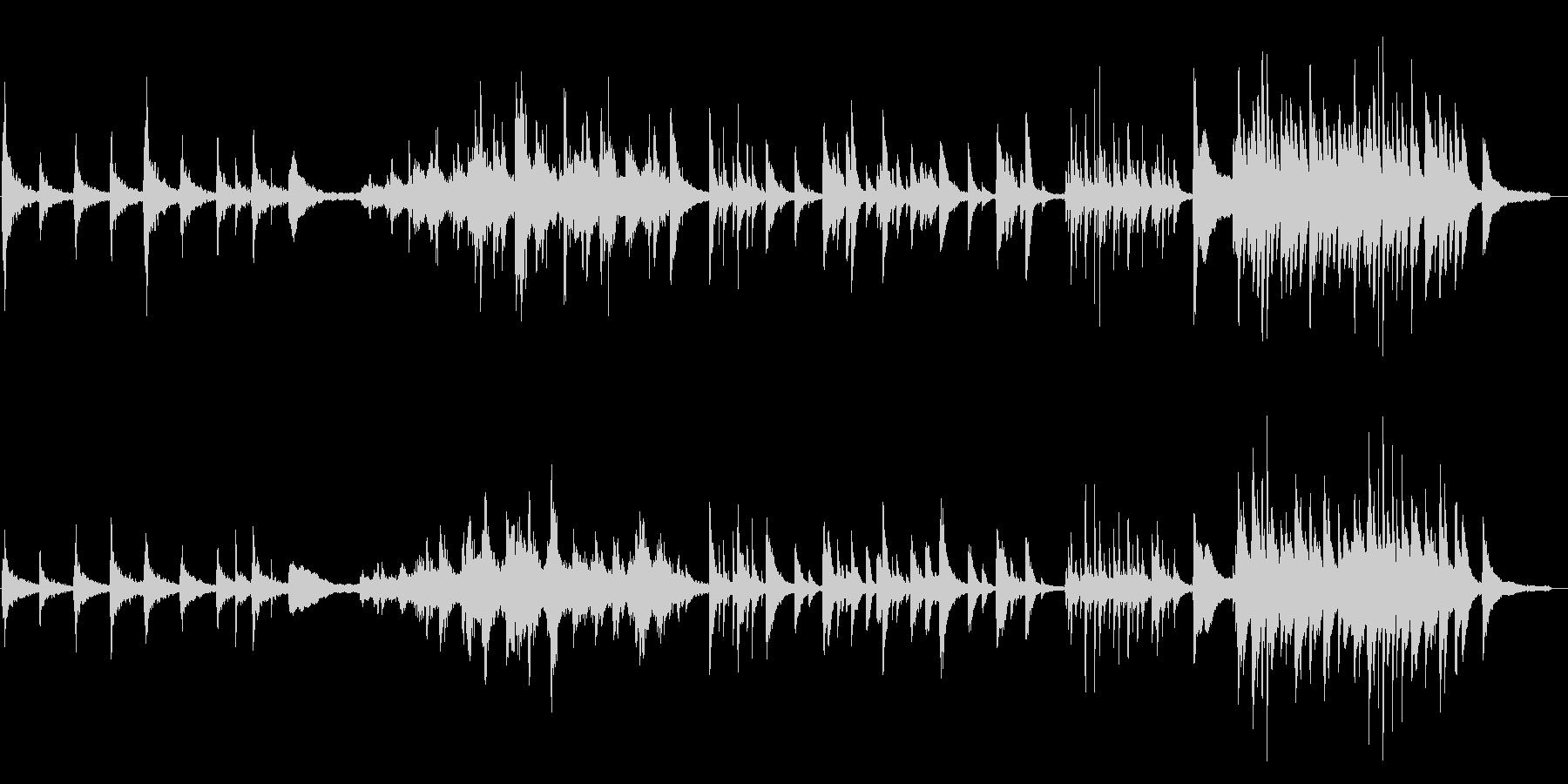 退廃的な切ないピアノソロの未再生の波形