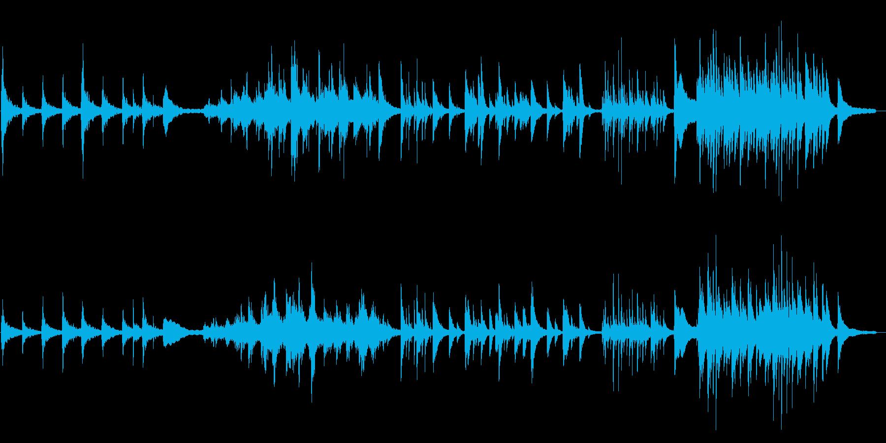 退廃的な切ないピアノソロの再生済みの波形