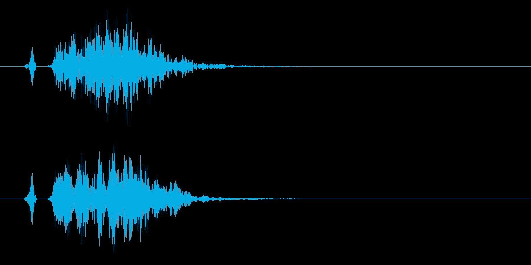 «プニ♪プイ»シンプルで可愛い演出に最適の再生済みの波形