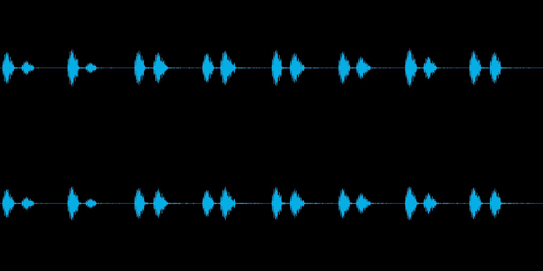 心臓の音ですの再生済みの波形