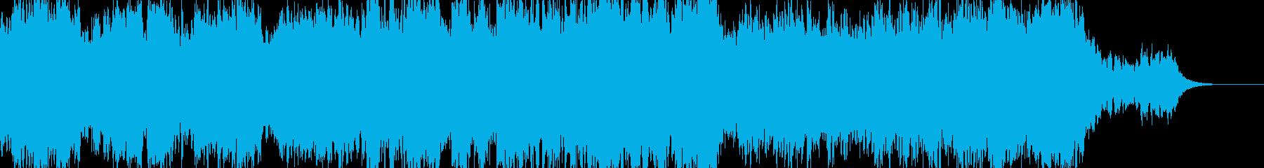 切ないメロディが心にしみこむ癒し系の曲の再生済みの波形