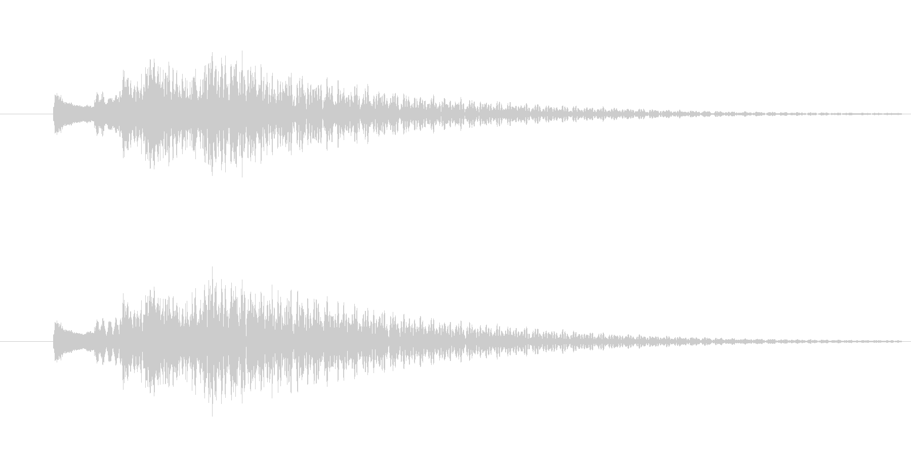 トゥルルルン/ハープのキラキラ下降音の未再生の波形