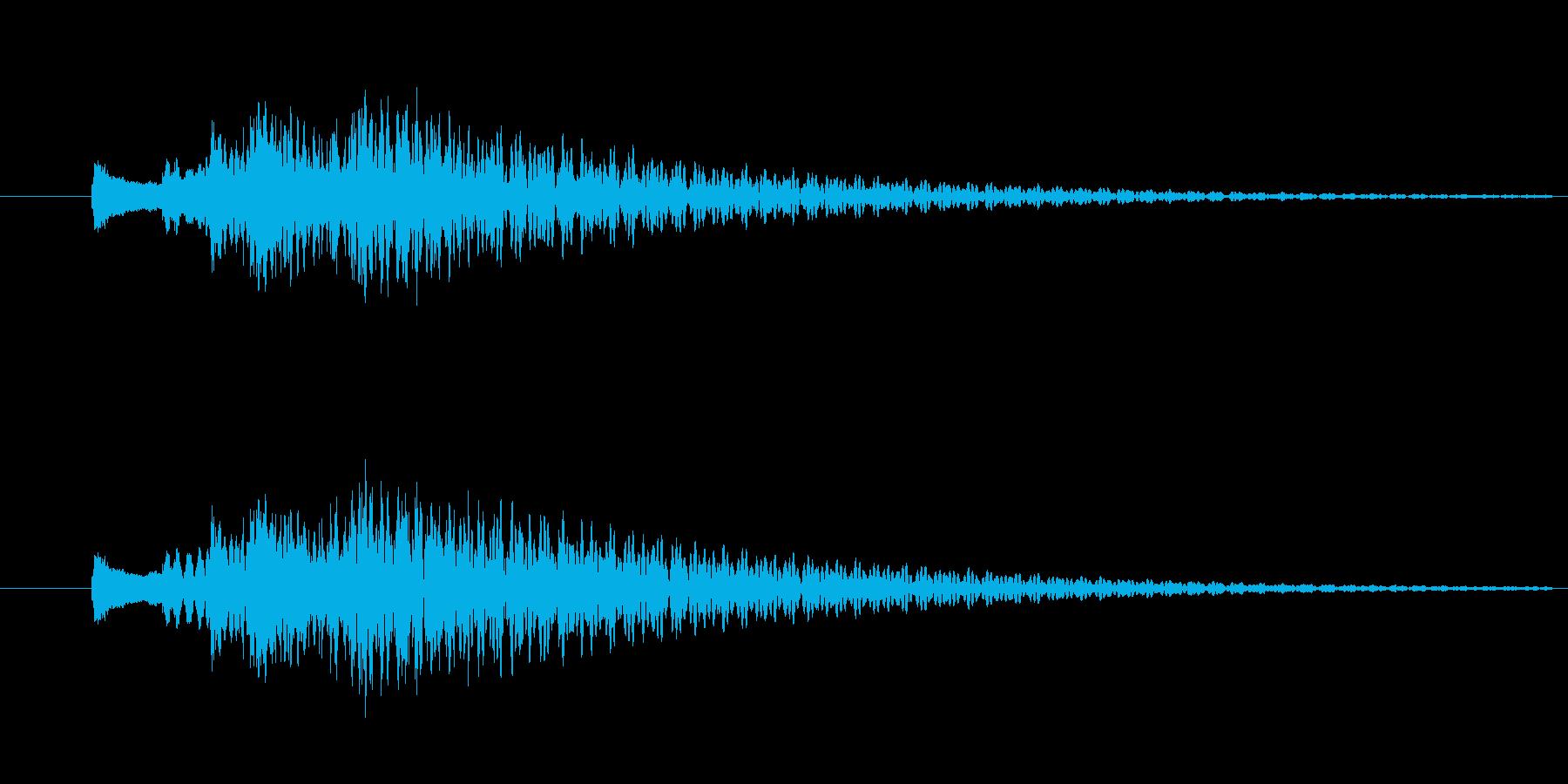 トゥルルルン/ハープのキラキラ下降音の再生済みの波形