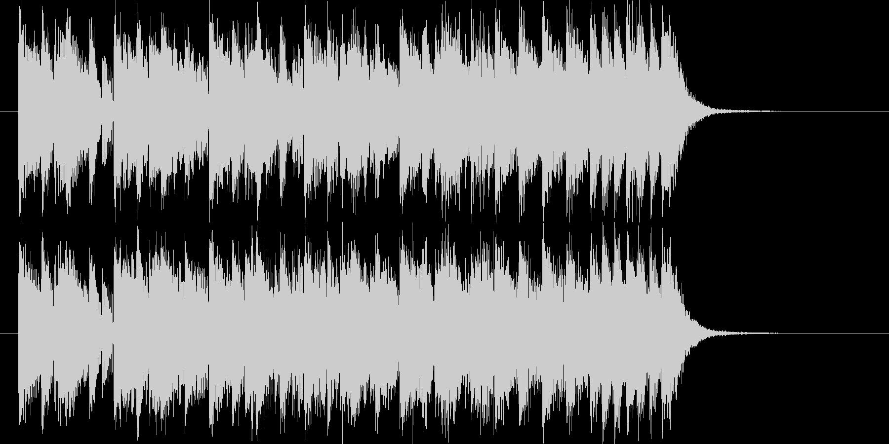 アップテンポなストリングスミュージックの未再生の波形