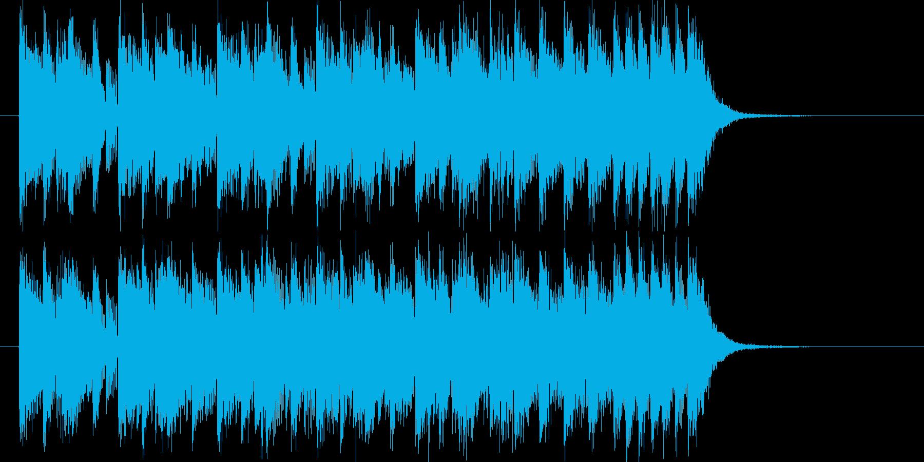 アップテンポなストリングスミュージックの再生済みの波形