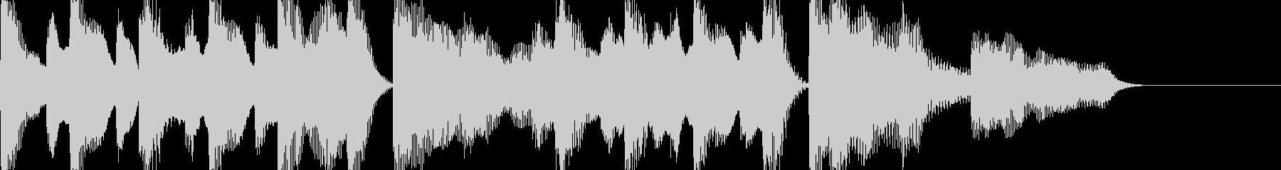 ピアノ 軽快でポップなジングル、ロゴにの未再生の波形