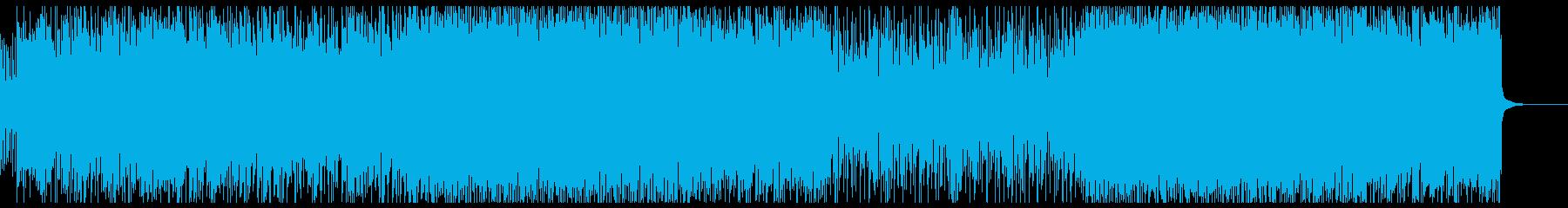 シンプルな激しいヘビーロックの再生済みの波形