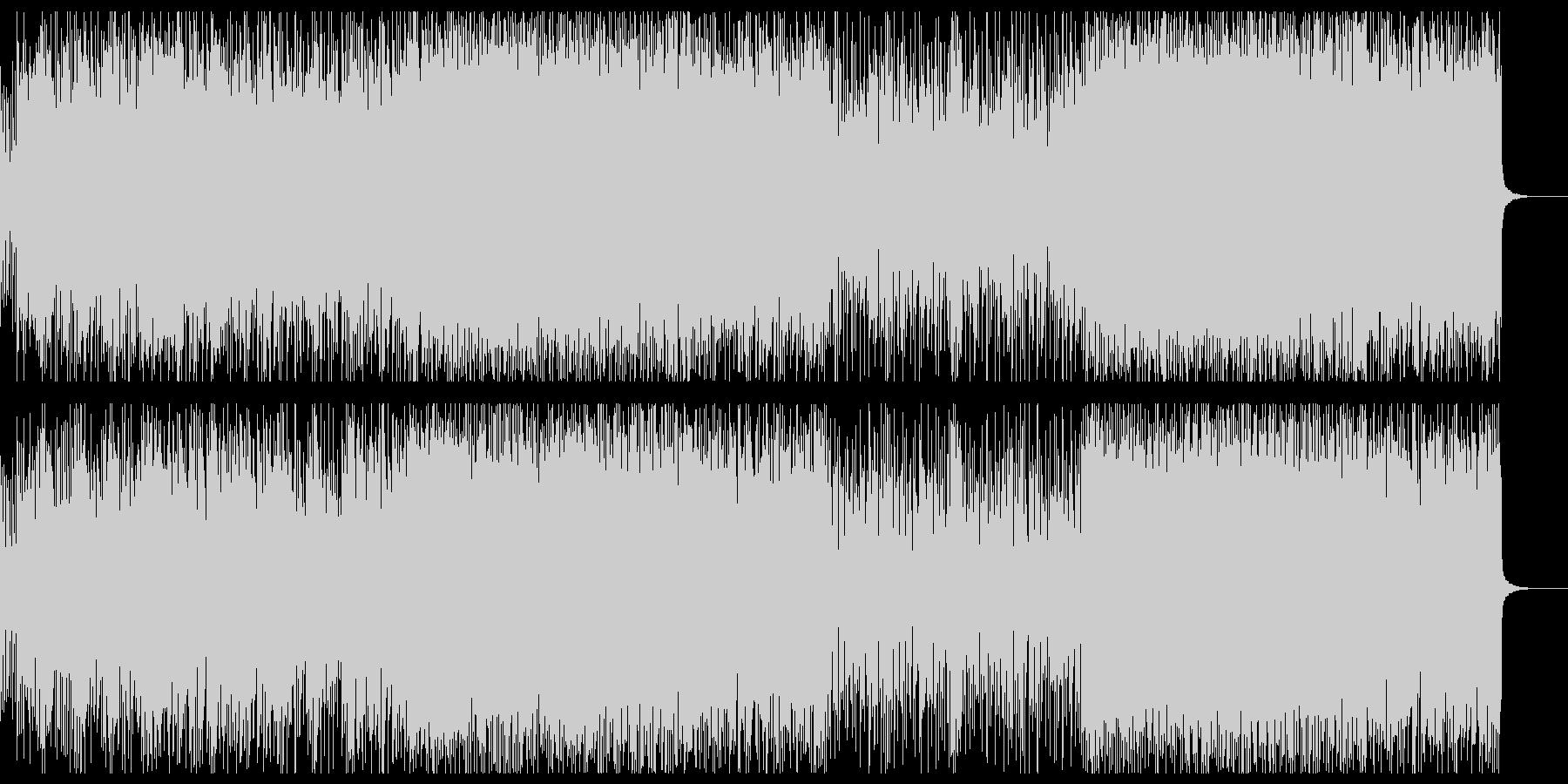 シンプルな激しいヘビーロックの未再生の波形