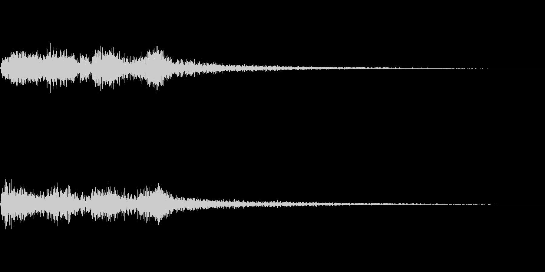 場面転換に使えるジングルの未再生の波形