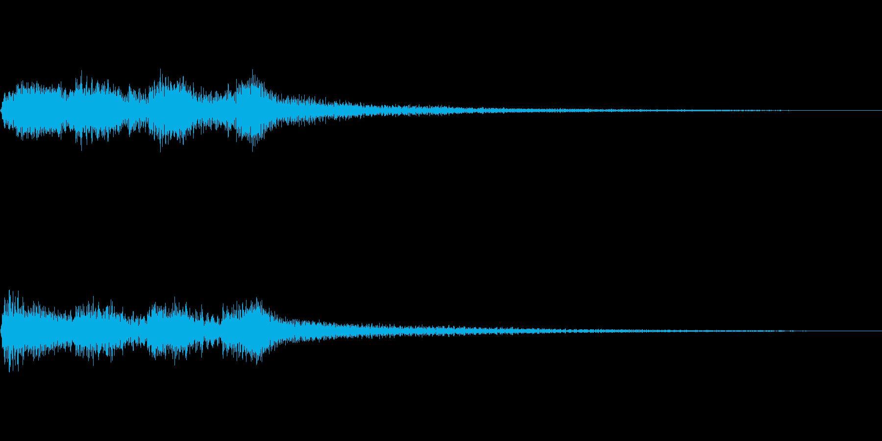 場面転換に使えるジングルの再生済みの波形