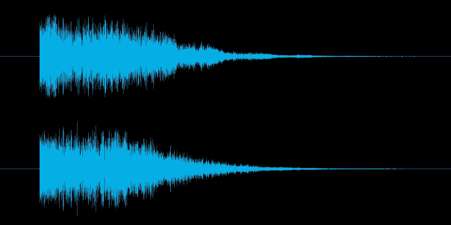 ティロリロリンの再生済みの波形