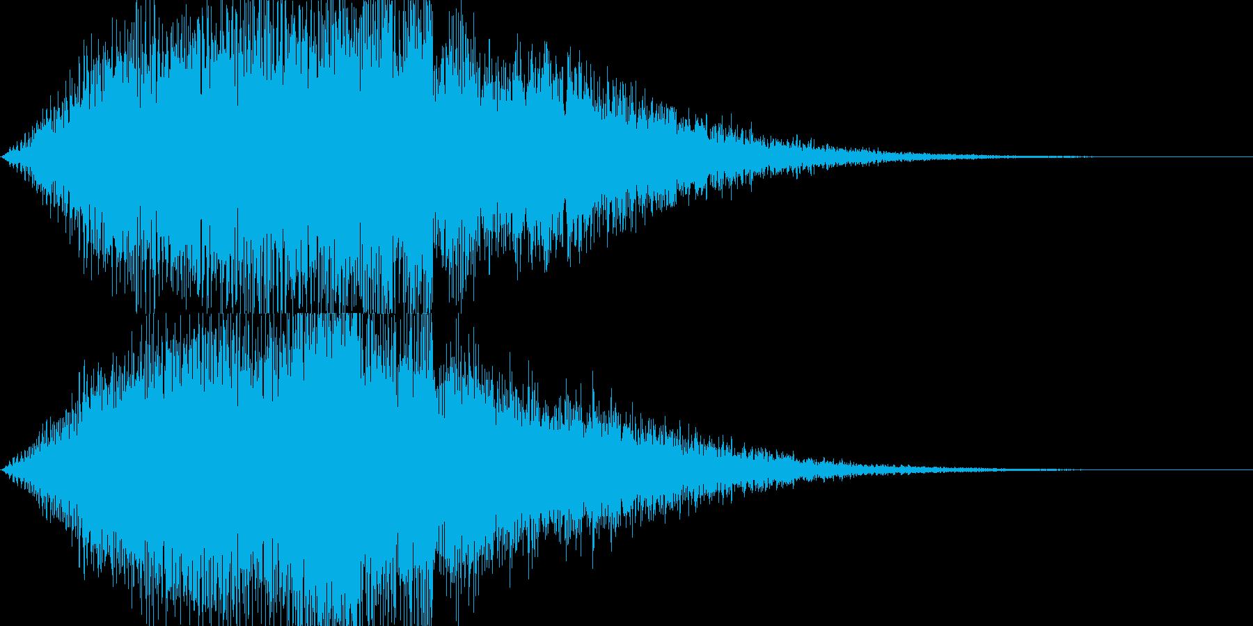 リバースピアノ(ゲームオーバーなど)の再生済みの波形