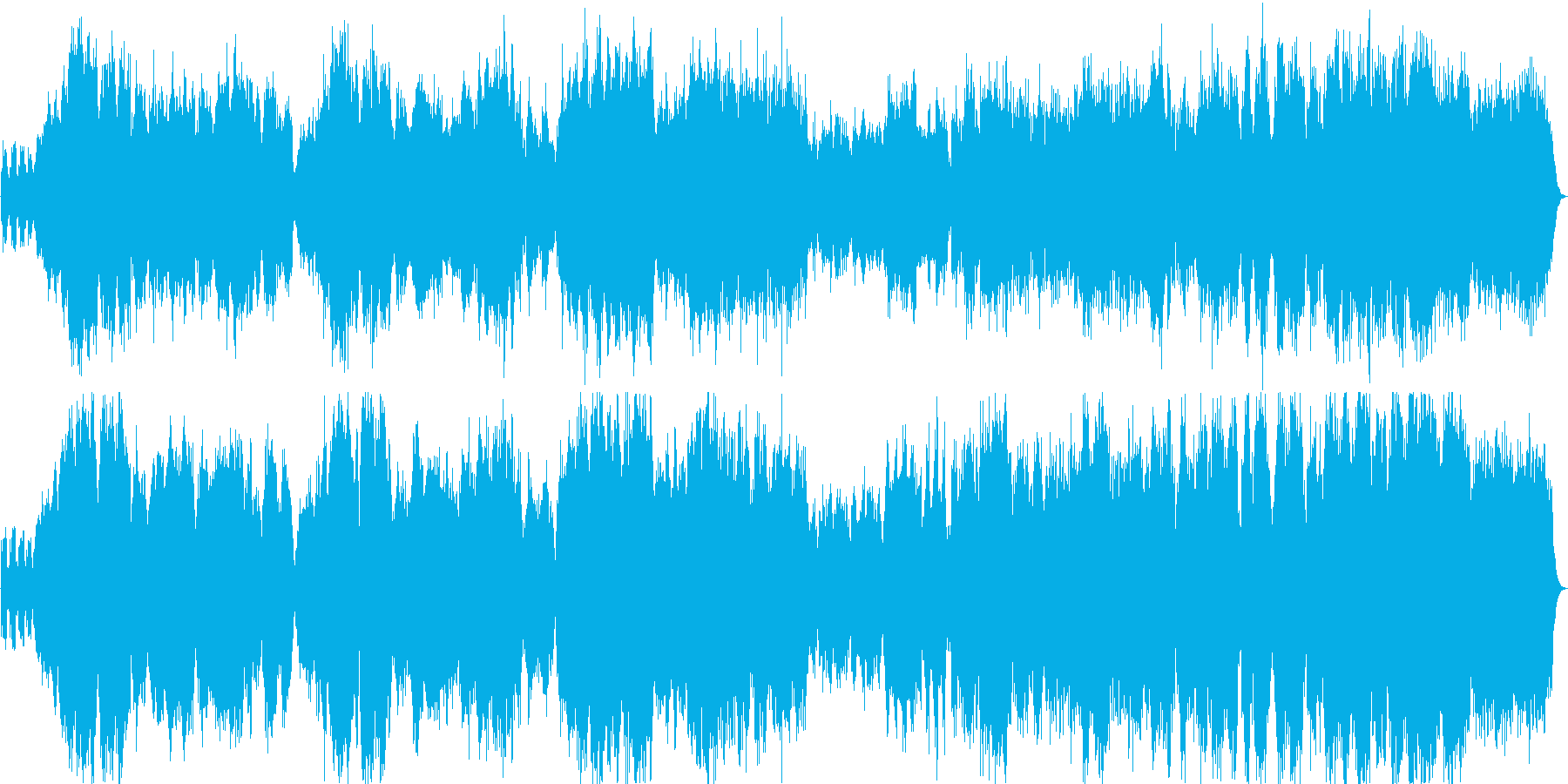バイオリンのソロ曲 切ないバラードの再生済みの波形