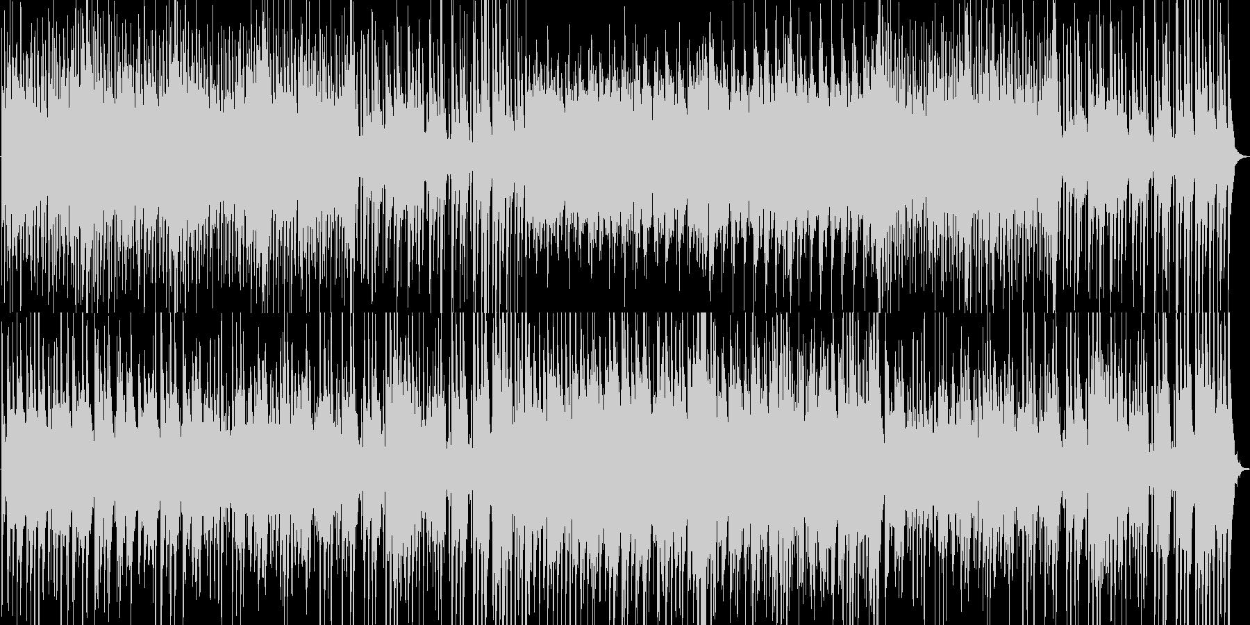 切ないピアノとハープのハーモニーの未再生の波形