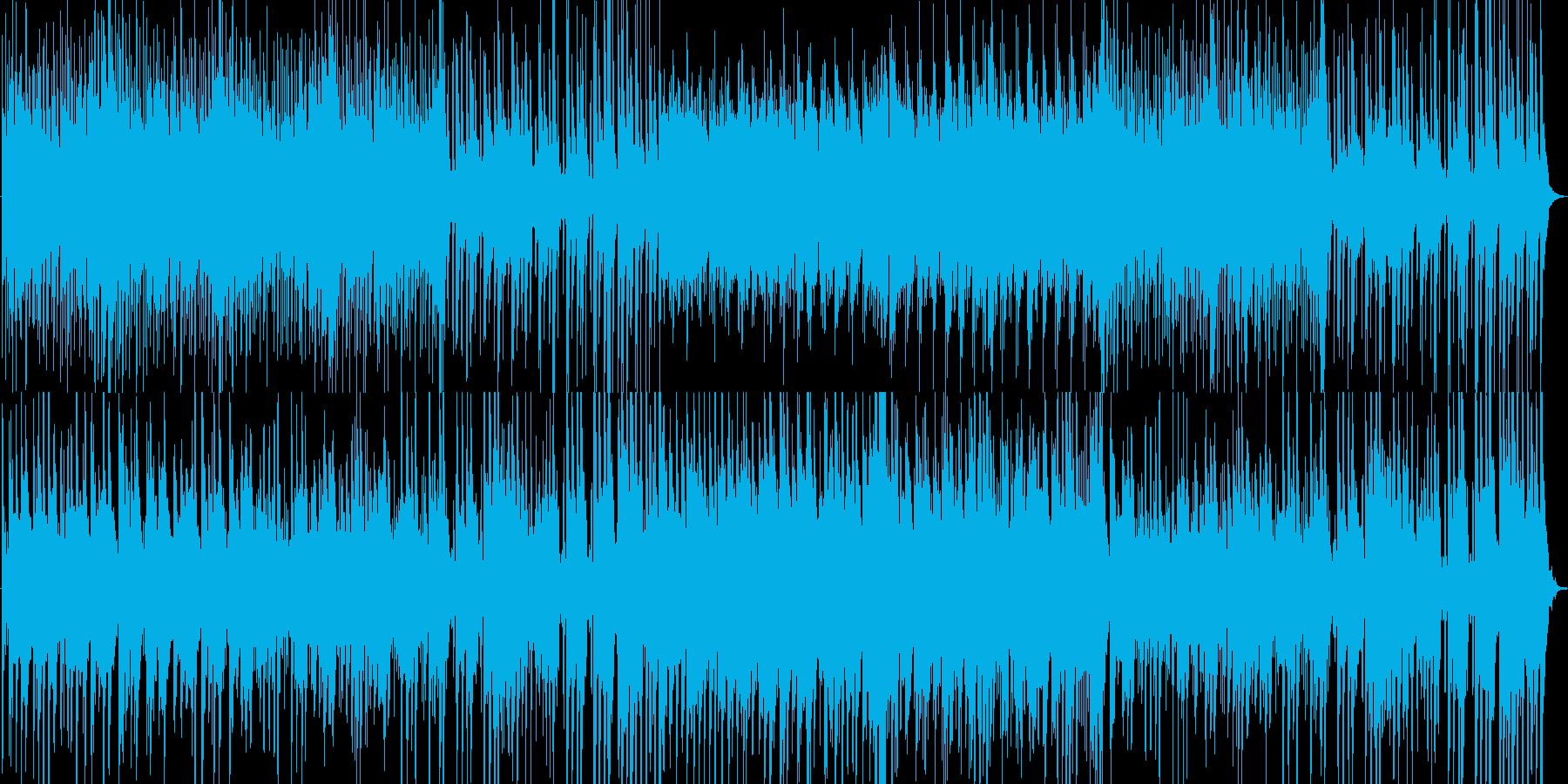 切ないピアノとハープのハーモニーの再生済みの波形