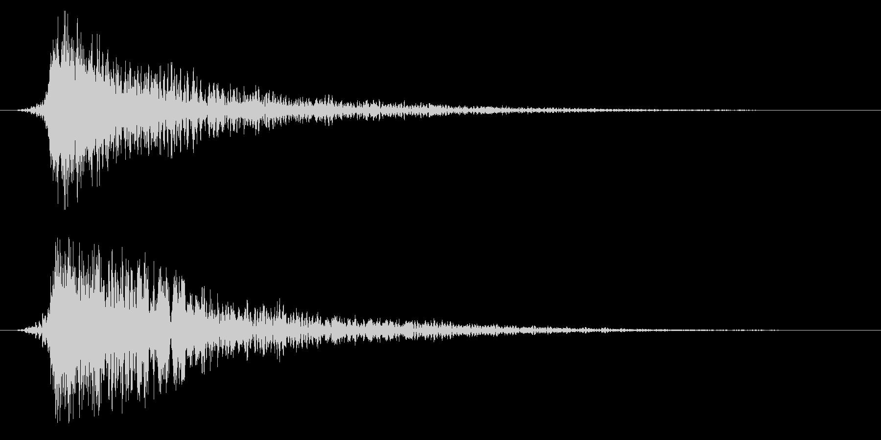 シネマティック ヒット インパクト11bの未再生の波形