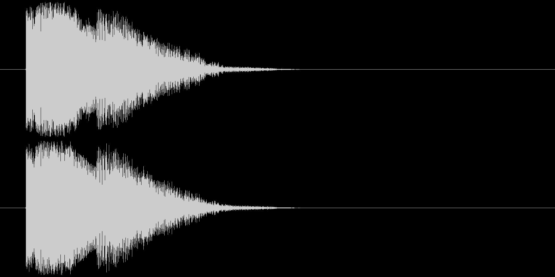 得点表示の未再生の波形