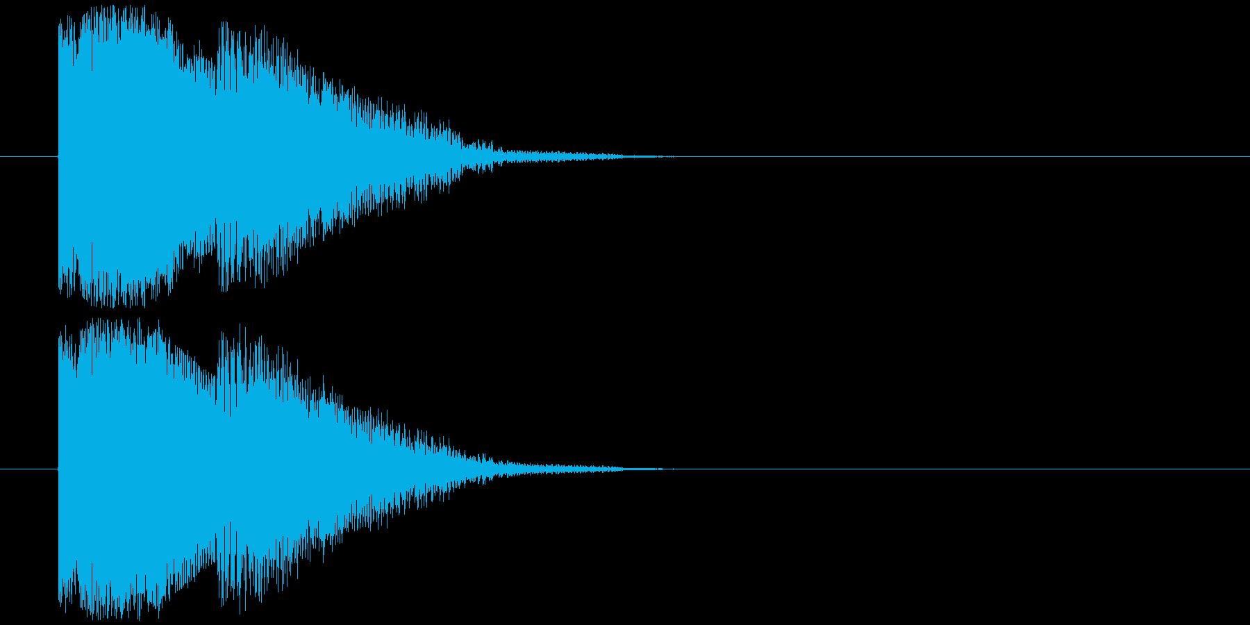 得点表示の再生済みの波形