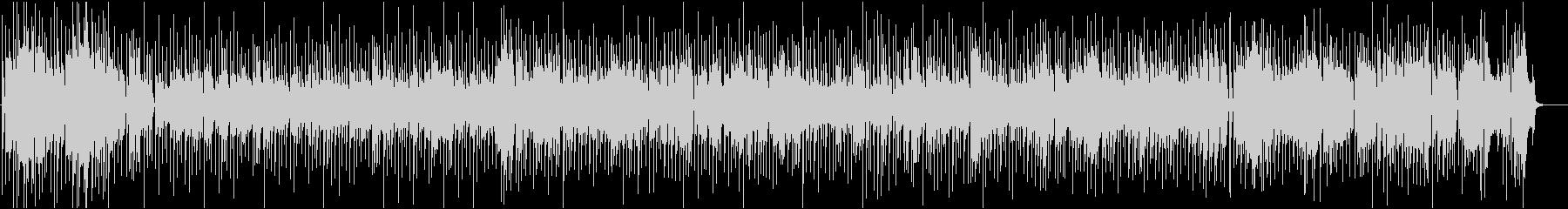 クラリネット生演奏のシャッフル系の未再生の波形