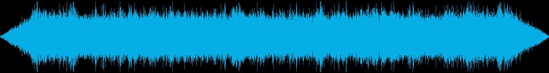 川辺の環境音・川の音・鳥のさえずりの再生済みの波形