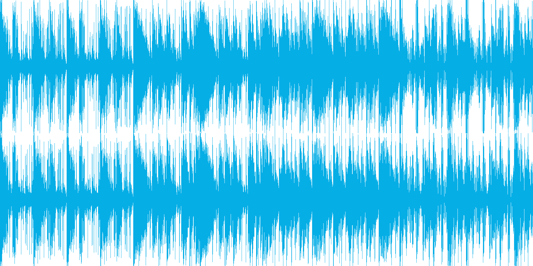 ダンジョン等の緊迫した状況に適したBGMの再生済みの波形