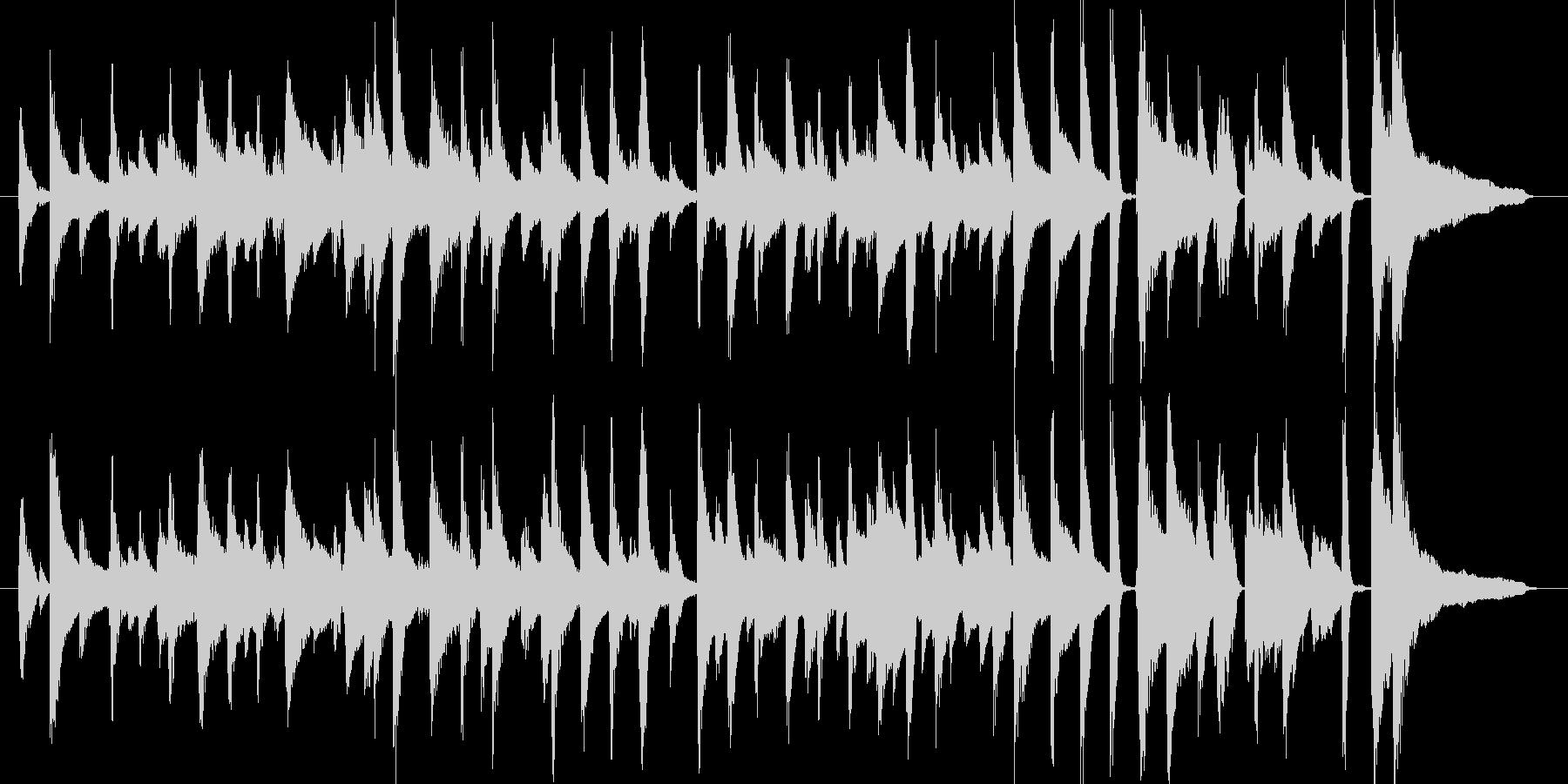 ちょっとおしゃれな短めのジャズチューン…の未再生の波形