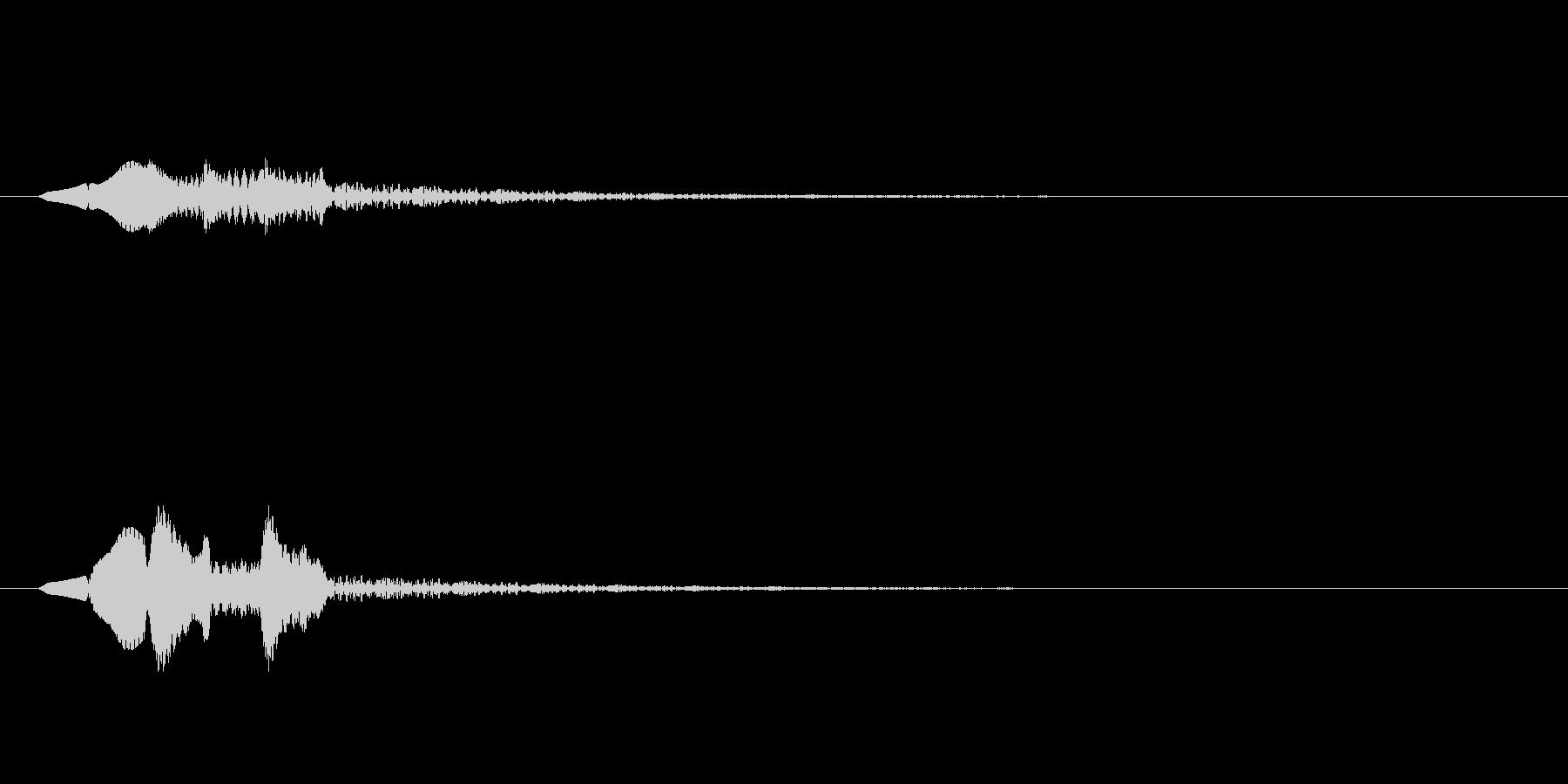 ピロリン↓(下降する音階)の未再生の波形